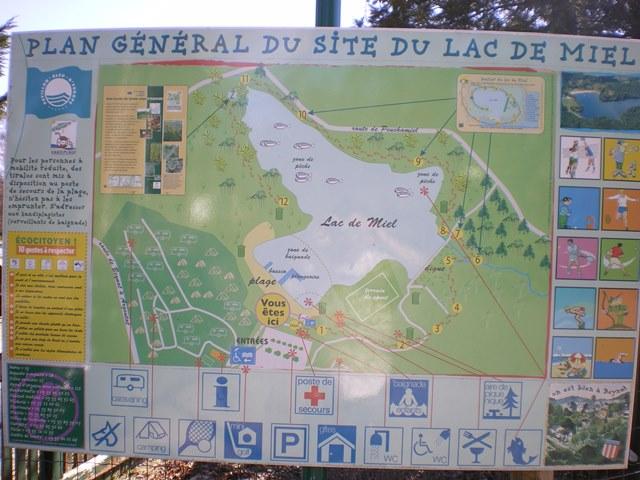 Plan du lac de miel