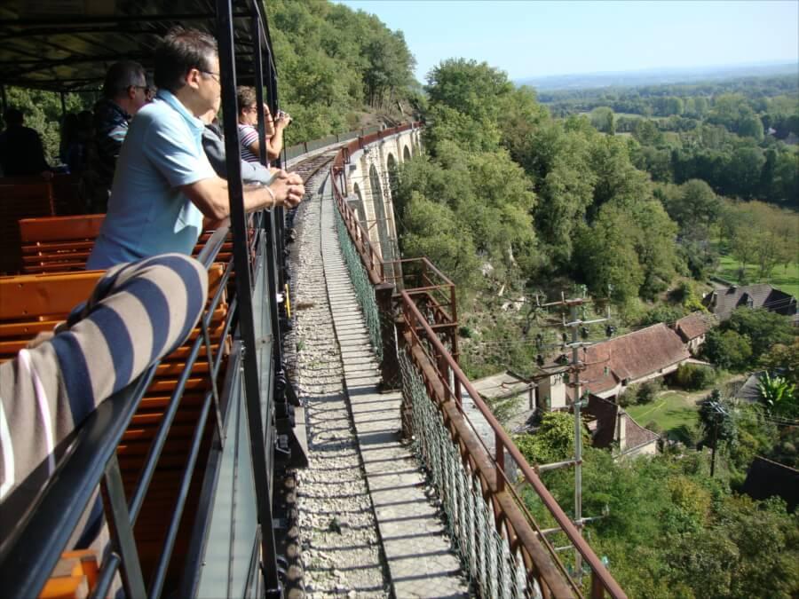 Parcours du chemin de fer touristique du Haut Quercy